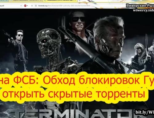 Тайна ФСБ: Обход блокировок Гугл, открыть скрытые торренты, скачать с торрента